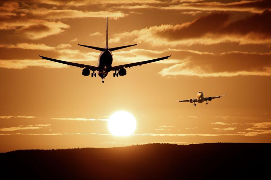 aviones, aterrizaje, cielo